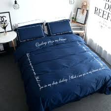 embroidered duvet covers king navy blue bedding sets navy blue duvet cover set cotton sateen blanket