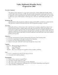 Executive Summary Sample For Proposal Template For Executive Summary Velorunfestival Com