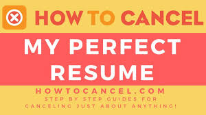 Myperfect Resume How to Cancel My Perfect Resume A Quick Guide YouTube 96