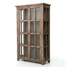 glass storage cabinet coastal solid wood display storage cabinet with glass doors stained glass storage cabinet