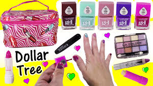 dollar tree surprise makeup haul foundation eyeshadow lipstick gel nail polish beauty review you