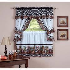 Red Kitchen Curtain Sets Kitchen Trendy Walmart Kitchen Curtains Inside Red Kitchen