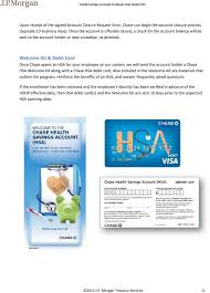 wele kit debit card once chase opens an hsa for your employee on our system