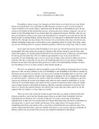 essay on friendship co essay on friendship