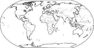 Extravagant World Map Coloring Page Maps Pages Printable Sheets