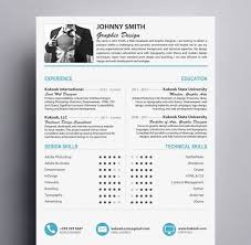 Modern Resume Templates Adorable Modern Resume Template For Graphic Designers Kukook