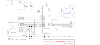 power supplies and control schematics circuits and diagram battery characterizer