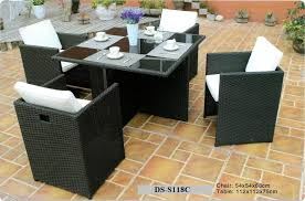 space saver rattan dining outdoor