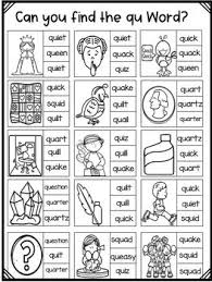 Trace the beginning letters 'qu' in this worksheet. Pin On Digraphs