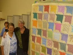 A busy day of SBSQC Community Quilts... - Sunbonnet Sue Quilt Club ... & Image may contain: 3 people, people smiling, people standing, stripes and  indoor Adamdwight.com