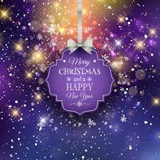 Purple Christmas Card Purple Snow Background Christmas Card Greeting Card Vector