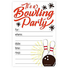 Bowling Party Invitations Amazon Com Bowling Party Invitations 20 Count With Envelopes