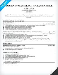 Electrician Responsibilities Resume Resume Meaning In English