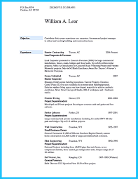 Carpenters Resume Free Resume Example And Writing Download