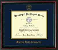 diploma frames murray state university 11 x 14 mahogany braid seal navy on gold