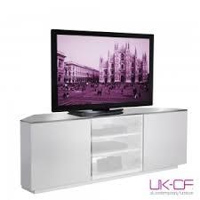 corner tv stand white. uk-cf milan cabinet white gloss corner tv stand with glass 150cm tv d