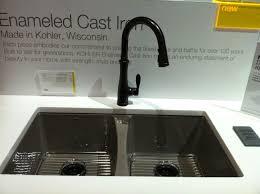 Kohler Refreshed Deerfield Sink In Suede With Bellera Faucet In