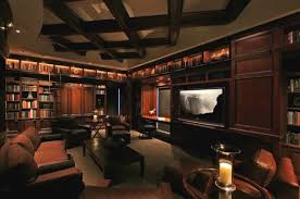 home library lighting. home library design sporting a giant tv view in gallery lighting y