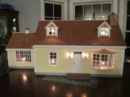 doll house lighting. Cape Cod Dollhouse In Yellow With Cedar Shakes - 1\ Doll House Lighting H