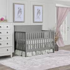 grey furniture nursery. Storm Grey Convertible 5-in-1 Crib - Alexa Furniture Nursery