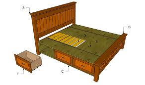 queen size storage poster bed