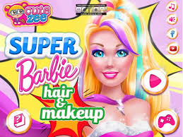 Super Barbie Hair And Makeup Best Barbie Makeover Games For