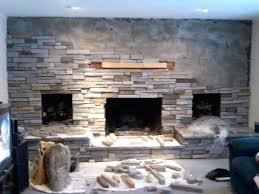 reface stone fireplace refacing fireplace with stone masonry