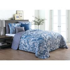 seville 7 piece queen blue quilt set