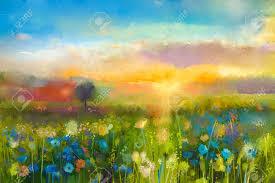 Risultati immagini per immagini di quadri: prati in fiore, prati pieni di fiori semplici