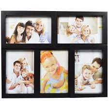 photo frame collage wall hanging black