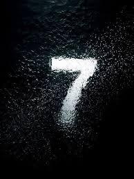 black background design inspiration. Wonderful Background White 7 Seven Submerged In Water On Black Background Typography Design  Lettering Inspiration In Black Background Design M