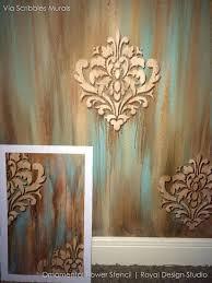 flower wall stencils wall stencil ornamental flower wall stencil royal