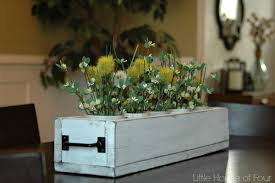 rustic dining table planter box little house of four creating a beautiful home one thrifty project at a time rustic dining table planter box