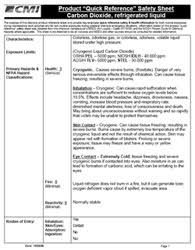 chemical information sheet chemical quick reference