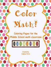 Small Picture Middle School Math Coloring Pages Bundle Middle school maths