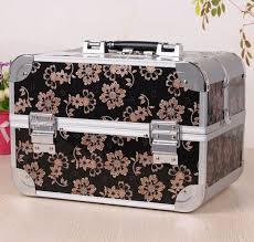 aluminum vanity box makeup cosmetics case