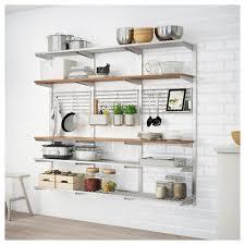 ikea kungsfors suspension rail shelf grid stainless steel alternative metal cabinet akurum glass hanger wall
