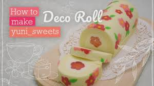 How To Design Cake How To Make Floral Design Rollcake Yunisweets Deco Roll