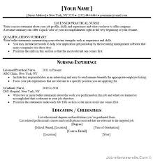 Entry Level Lpn Resume Free Resume Templates 2018