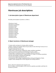 nice warehouse supervisor job description photos production