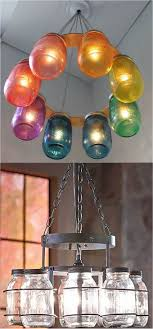 make a beautiful mason jar chandelier in minutes using this really affordable wrought iron canning jar chandelier frame