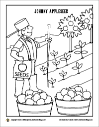 Small Picture JohnnyAppleseedColoringPagepng