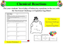 Chemical Reactions Worksheets Free Worksheets Library | Download ...