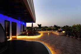 rope light outdoor patio design by metro interior designer yogesh wadhwana