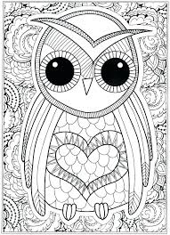Owl Color Pages Coloring Pages Of Owl Babies Printable Owl Color