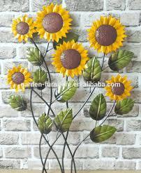 metal outdoor wall art sunflower