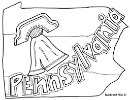Pennsylvania Coloring Page By Doodle Art