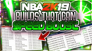 Speed Boosting Chart 2k19 Every Build That Can Speed Boost In Nba 2k19