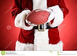 Football Stock American 59085440 Anonymous Ball Of Photo - Santa Image An Holding