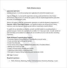 Public Relation Job Description Template – 8+ Free Word, Pdf Format ...